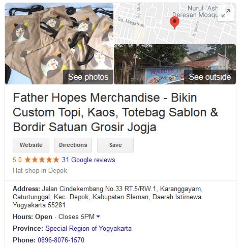 Alamat Fatherhopes Merchandise