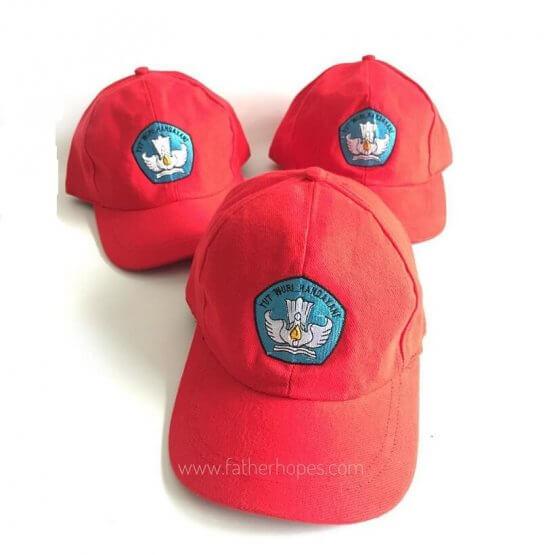 topi bordir satuan'