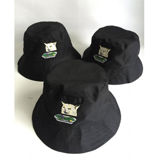 topi bucket hat bordir