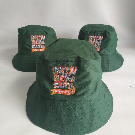 bucket hat bordir full color